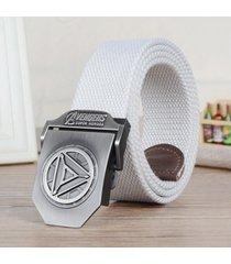 cinturón de hombres, cinturón de lona de cinturón-blanco
