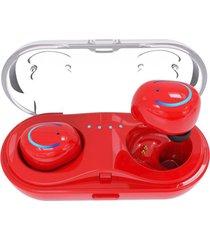 audifonos bluetooth estéreo manos libres deportivos con mic - rojo