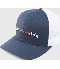 gorra azul-blanco columbia mesh ball