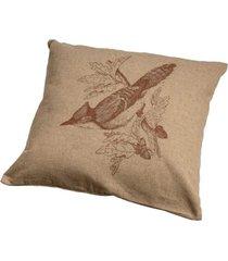 almofada decorativa pássaro ii de algodão com enchimento
