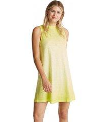vestido de algodón verde limón esprit