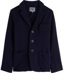 il gufo blue cotton blazer