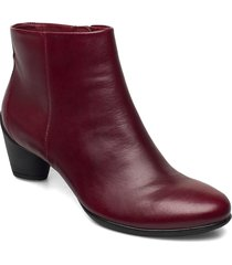 sculptured 45 shoes boots ankle boots ankle boot - heel röd ecco