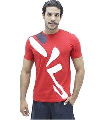 camiseta rojo fila t shirt diagonal