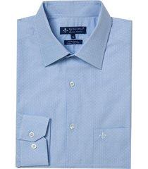 camisa dudalina manga longa fio tinto maquinetada masculina (branco, 45)