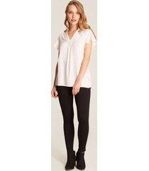 blusa blanca estampada blanco l