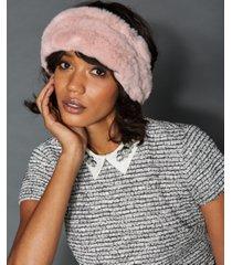 the fur vault knitted rabbit fur headband