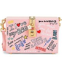 i heart my bag acrylic box crossbody bag