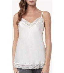 blusa renda e seda intimissimi renda e seda off-white