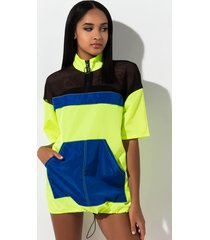 akira foolish color block mini dress