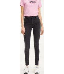 tommy hilfiger women's black high rise skinny fit jean plush black - 31/30