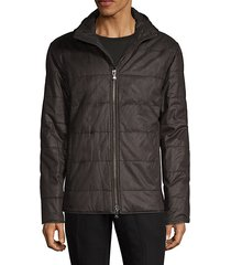 hooded quilted puff jacket