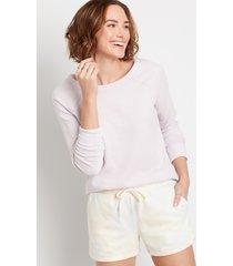 maurices womens solid crew neck sweatshirt purple