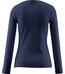 shirt van 100% katoen met ronde hals van bogner blauw