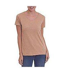 100% organic cotton t-shirt, 'natural sensation' (peru)