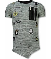 longfit asymmetric embroidery - t-shirt patches - us army