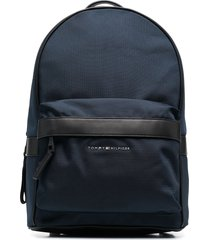 tommy hilfiger recycled-polyester zipped-pocket backpack - blue