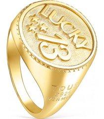 anillo stay lucky 13 dorado tous