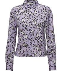 leopa shirt ma18 blouse lange mouwen paars gestuz