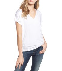 women's amour vert 'mayr' v-neck tee, size one size - white