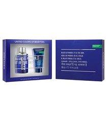 kit benetton colors men blue kit - eau de toilette + pós-barba