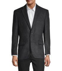 lauren ralph lauren men's lexington standard-fit jacket - black - size 48 r