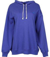farrin face sweatshirt electric blue