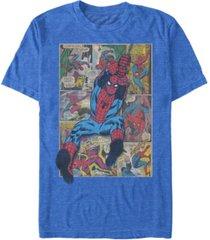 marvel men's comic collection classic spider-man swinging short sleeve t-shirt