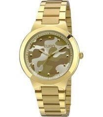 relógio euro feminino analogico militar