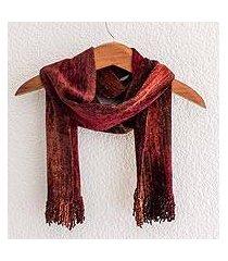 cotton blend scarf, 'autumn dreamer' (guatemala)