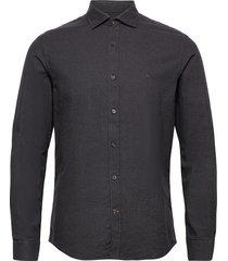 alton spread collar skjorta casual brun morris