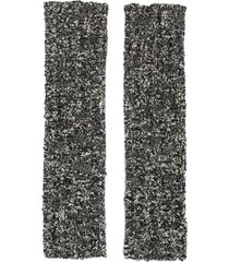 dolce & gabbana marl-knit fingerless gloves - black