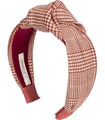 jennifer behr knot-detail checked headband - red