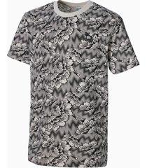 all-over printed t-shirt, zilver/bruin, maat 128 | puma