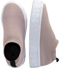 tênis lumiss calce facil meia trico shoes feminino