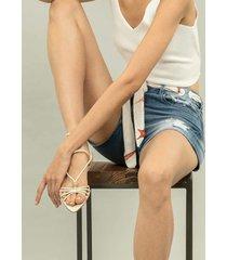 shorts jeans ibiza com cinto jeans - lez a lez