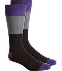 alfani men's textured check socks, created for macy's