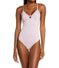 women's b.tempt'd by wacoal future foundation sparkle thong bodysuit, size large - pink