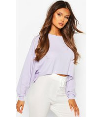 geribbelde oversized lounge sweater, lila