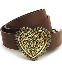 cinturón corazon marrón humana