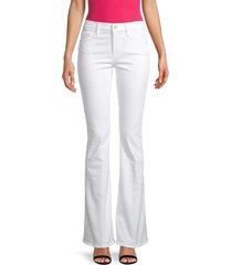 frame women's forever karlie flare jeans - white - size 25 (2)