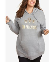 motherhood maternity plus size oh deer! i'm pregnant! christmas maternity sweatshirt
