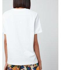 kenzo women's loose t-shirt embossed tiger - white - s