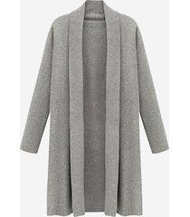 cappotto lungo in maglia tinta unita casual