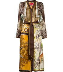 f.r.s for restless sleepers dafne kimono dress - yellow