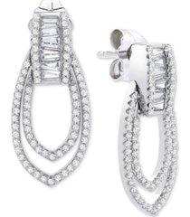 wrapped in love diamond (1/2 ct. t.w.) earrings in 14k white gold, created for macy's