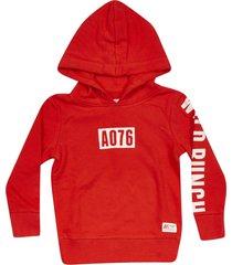 ao76 logo print hoodie