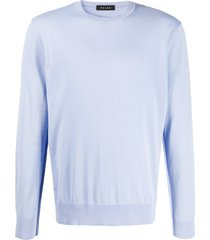 falke crew neck slim fit sweater - blue