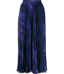 andamane becky pleated skirt - purple