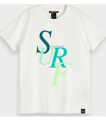 scotch & soda chest artwork t-shirt